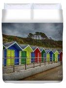 Beach Huts 1 Duvet Cover