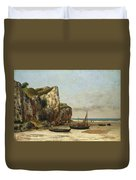 Beach In Normandy Duvet Cover