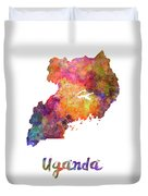 New Hampshire Us State In Watercolor Text Cut Out Duvet Cover