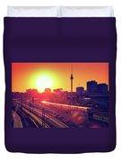 Berlin - Sunset Skyline Duvet Cover