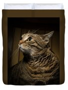 Big Cat On Chair Duvet Cover