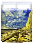 Birling Gap And Seven Sisters Art Duvet Cover