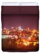 Birmingham Alabama Evening Skyline Duvet Cover