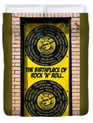 Birthplace Of Rock N Roll Duvet Cover