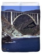 Bixby Creek Aka Rainbow Bridge Bridge Big Sur Photo  Duvet Cover