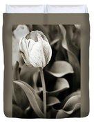 Black And White Tulip Duvet Cover