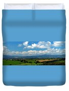 Black Mountains And Vale Of Usk Duvet Cover