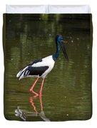 Black-necked Stork Duvet Cover