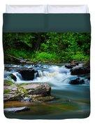 Black Slate Falls Duvet Cover