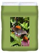 Black Swallowtail Butterfly Duvet Cover