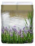 Blue Daffodils Duvet Cover