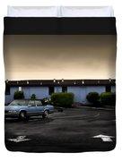 Blue Motel Duvet Cover