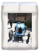 Blue Oldtimer Duvet Cover