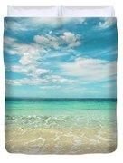 Pristine Blue Paradise Duvet Cover
