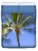 Blurry Palms Duvet Cover