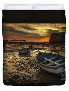 Boats On La Caleta Cadiz Spain Duvet Cover