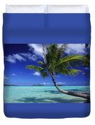 Bora Bora, Palm Tree Duvet Cover