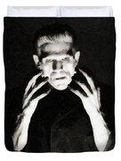 Boris Karloff As Frankenstein Duvet Cover