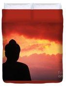 Borobudor Temple Duvet Cover