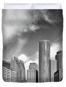 Boston Skyline 1980s Duvet Cover