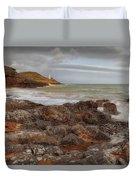 Bracelet Bay And Mumbles Lighthouse Duvet Cover