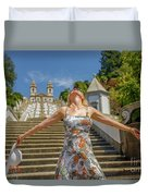 Braga Portugal Woman Duvet Cover