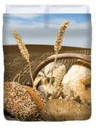 Bread And Wheat Cereal Crops. Duvet Cover