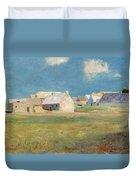 Breton Village Duvet Cover