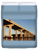 Bridge Pilings Duvet Cover