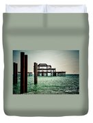 Brighton West Pier Duvet Cover