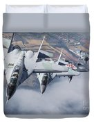 Bulgarian And Polish Air Force Mig-29s Duvet Cover