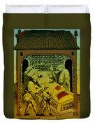 Butcher, Medieval Tradesman Duvet Cover
