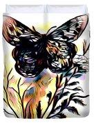 Butterfly Sketch Duvet Cover