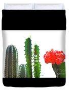Cactus Plants Duvet Cover