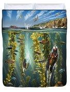 California Kelp Forest Duvet Cover