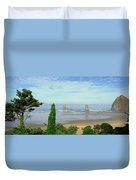 Cannon Beach, Oregon Duvet Cover