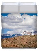 Canyon Badlands And Colorado Rockies Lanadscape Duvet Cover