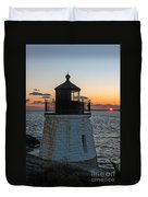 Castle Hill Light Newport Rhode Island Duvet Cover