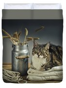 Cat Portrait Duvet Cover