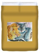 Kitty And Kat Duvet Cover