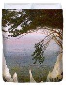 Chalk Cliffs On Rugen  Duvet Cover
