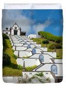 Chapel In Azores Islands Duvet Cover