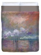 Charing Cross Bridge Duvet Cover by Claude Monet