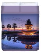 Charleston Pineapple Fountain Duvet Cover