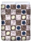 Checkerboard Generated Seamless Texture Duvet Cover
