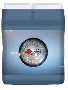 Chevrolet Corvette Badge Duvet Cover