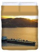 Chevron Pegasus Voyager Oil Tanker Duvet Cover