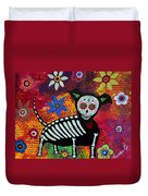 Chihuahua Day Of The Dead Duvet Cover