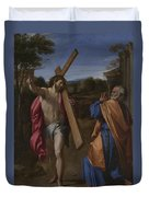 Christ Appearing To Saint Peter On The Appian Way Duvet Cover