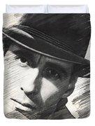 Christopher Lee, Vintage Actor Duvet Cover